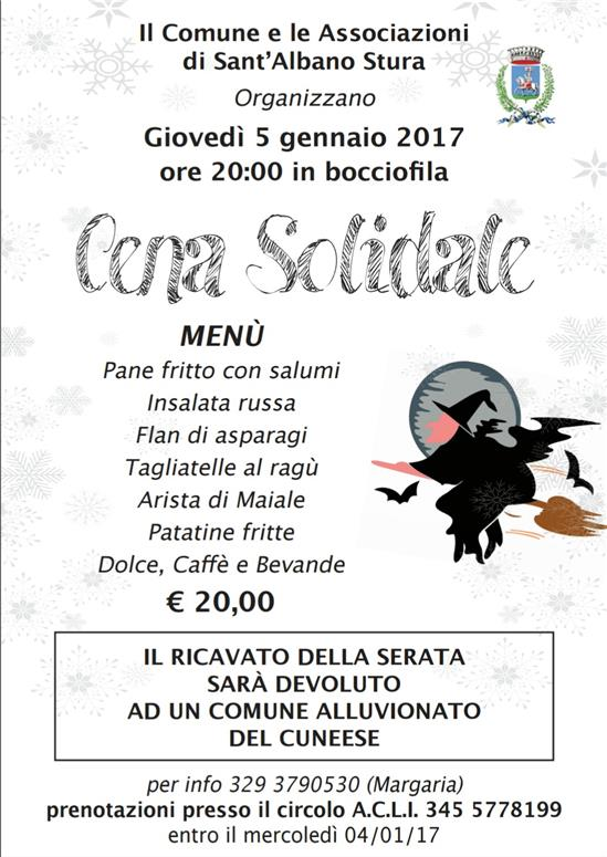 CENA SOLIDALE 2017